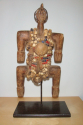 An early C20th  wooden figure decorated with beads and shells from Cam - picture 1