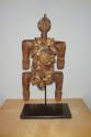 An early C20th  wooden figure decorated with beads and shells from Cam - picture 2