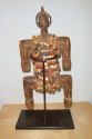 An early C20th  wooden figure decorated with beads and shells from Cam - picture 4