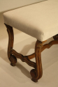 Antique Spanish scroll carved walnut bench, c1900. - picture 3