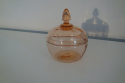 Pale red/coral French glass toilette set, c1940 - picture 6