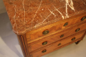 19thC French antique inlaid parquetry commode with marble top. - picture 4
