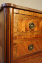 19thC French antique inlaid parquetry commode with marble top. - picture 5