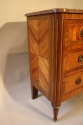 19thC French antique inlaid parquetry commode with marble top. - picture 6