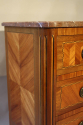 19thC French antique inlaid parquetry commode with marble top. - picture 7