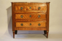 19thC French antique inlaid parquetry commode with marble top. - picture 8