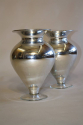 A pair of silver mirror glass vases, C20th - picture 1