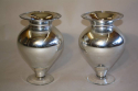 A pair of silver mirror glass vases, C20th - picture 2