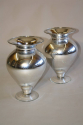 A pair of silver mirror glass vases, C20th - picture 3