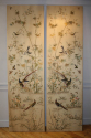 A pair of hand embroidered silk panels, c1900 - picture 1