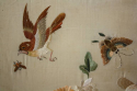 A pair of hand embroidered silk panels, c1900 - picture 9
