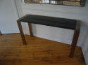 Brush aluminium & granite console. French c1970 - picture 1