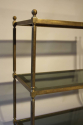A good size three tier worn gilt metal etagere, French 1970 - picture 3