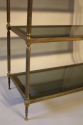 A good size three tier worn gilt metal etagere, French 1970 - picture 4