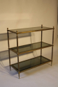 A good size three tier worn gilt metal etagere, French 1970 - picture 5