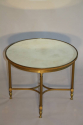 A circular brass and mirror glass occasional table, French c1950 - picture 3