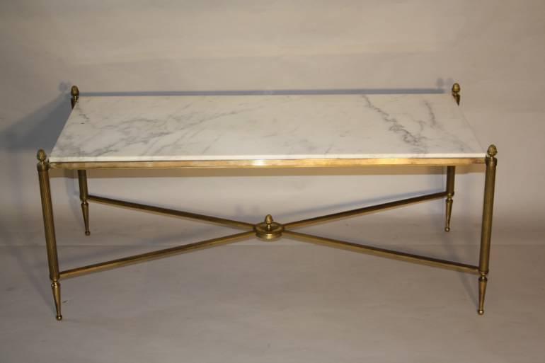 Gilt metal and marble table