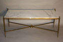 Gilt metal and marble table - picture 2