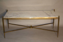 Gilt metal and marble table - picture 4