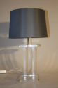 A pair of lucite table lamps, French c1970 - picture 3