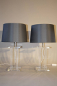 A pair of lucite table lamps, French c1970 - picture 4