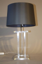 A pair of lucite table lamps, French c1970 - picture 5
