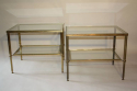 A pair of brass and glass side tables, English c1950 - picture 1