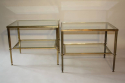 A pair of brass and glass side tables, English c1950 - picture 2