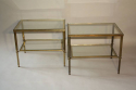 A pair of brass and glass side tables, English c1950 - picture 4