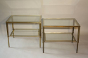 A pair of brass and glass side tables, English c1950 - picture 5
