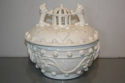A 19thC white glazed ceramic pot with lid - picture 2