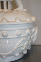A 19thC white glazed ceramic pot with lid - picture 4