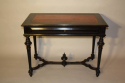 Napoleon III Ebonised Black Desk, French c1880 - picture 2