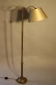 Victorian brass telescopic, adjustable floor lamp - picture 4