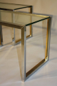 A pair of silver and gold metal end/side tables, French c1970 - picture 2