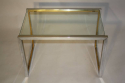 A pair of silver and gold metal end/side tables, French c1970 - picture 5