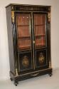 Napoleon III ebony veneer and ormolu cabinet - picture 1