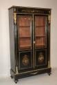 Napoleon III ebony veneer and ormolu cabinet - picture 2