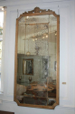 Large Oak Framed Sectional Overmantle Mirror - picture 1
