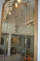 Large Oak Framed Sectional Overmantle Mirror - picture 2