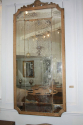 Large Oak Framed Sectional Overmantle Mirror - picture 4