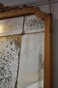 Large Oak Framed Sectional Overmantle Mirror - picture 5
