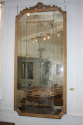 Large Oak Framed Sectional Overmantle Mirror - picture 6