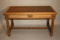 French antique oak twisted leg bureau, c1920 - picture 2