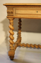 French antique oak twisted leg bureau, c1920 - picture 3