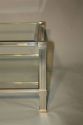 Silver metal two tier coffee table by Pierre Vandel - picture 4