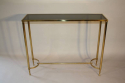 French c1970 brass and glass narrow console - picture 3