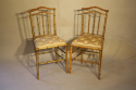 Giltwood bamboo side chairs - picture 2