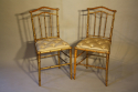 Giltwood bamboo side chairs - picture 3