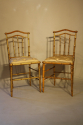 Giltwood bamboo side chairs - picture 4